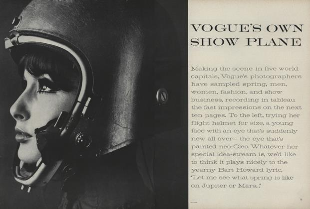 Article Preview: Vogue's Own Show Plane, March 15 1962 | Vogue