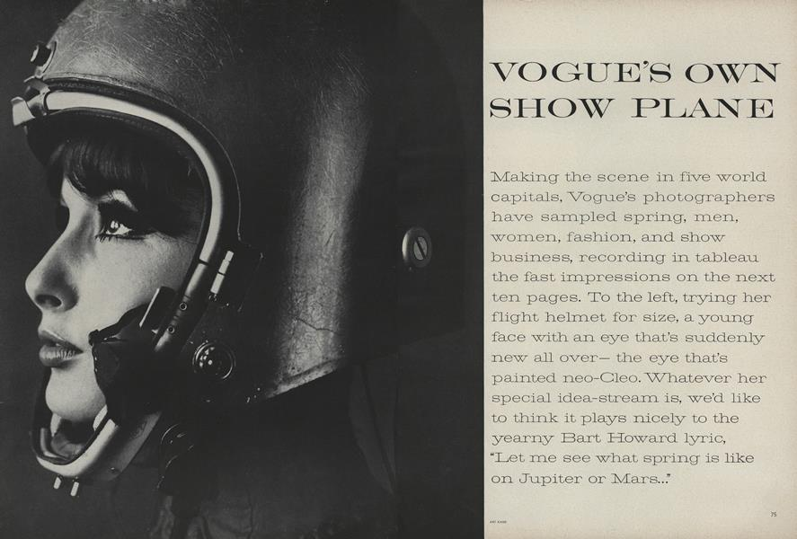 Vogue's Own Show Plane
