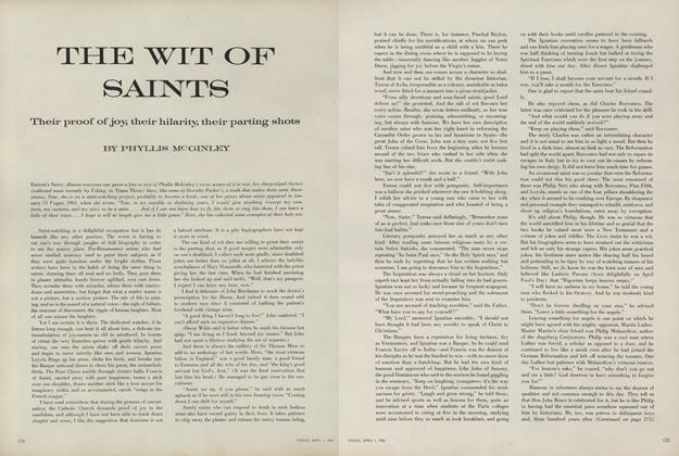 Article Preview: The Wit of Saints, April 1 1962 | Vogue