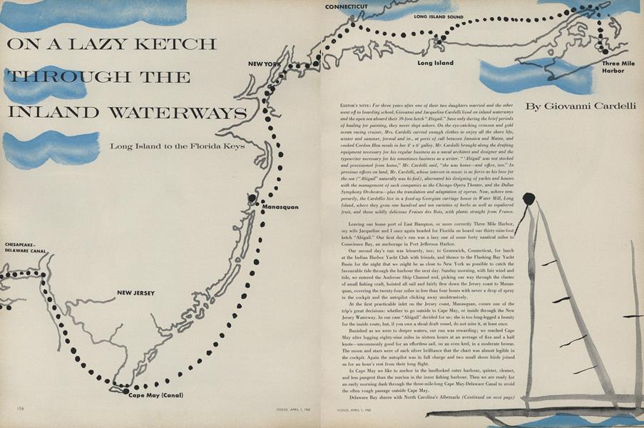 On a Lazy Ketch Through the Inland Waterways: Long Island to the Florida Keys