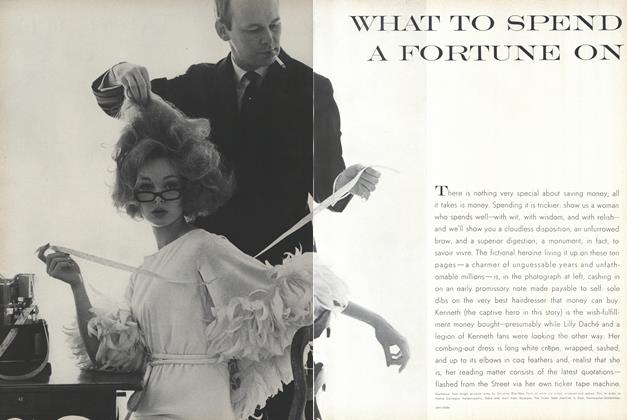 Article Preview: What to Spend a Fortune On, April 15 1962 | Vogue