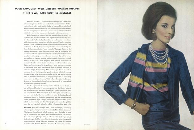 Article Preview: Your Famously Well-dress Women Discuss Their Own Rare Clothes Mistakes, April 15 1962 | Vogue