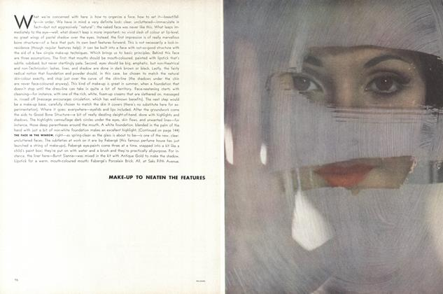 Article Preview: Make-up to Neaten the Features, April 15 1962 | Vogue