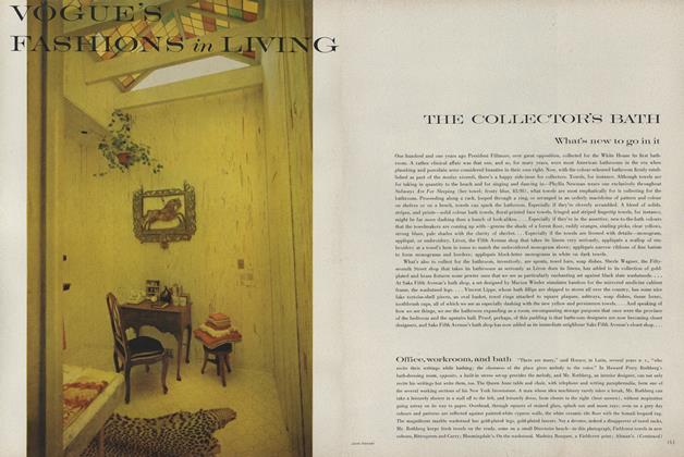 Article Preview: THE COLLECTOR'S BATH: What's new to go in it, June 1962 | Vogue
