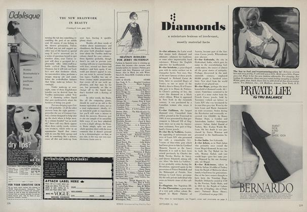 Diamonds: a Miniature Lexicon of Irrelevant, Mostly Material Facts