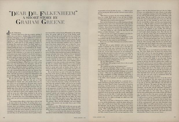 """""""Dear Dr. Falkenheim"""""""