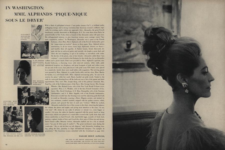 In Washington: Mme. Alphand's ''Pique-Nique Sous Le Dryer''