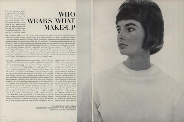 Article Preview: Who Wears What Make-Up, January 15 1963 | Vogue