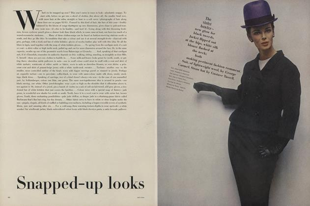 Article Preview: Snapped-up looks, January 15 1963 | Vogue