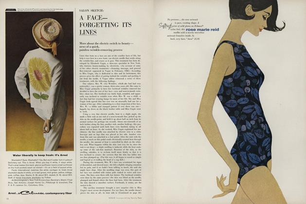 Article Preview: Salon Sketch: A Face- Forgetting it's Lines, January 15 1963 | Vogue