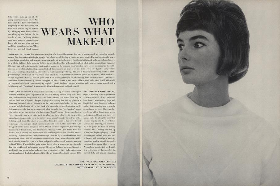 Who Wears What Make-Up