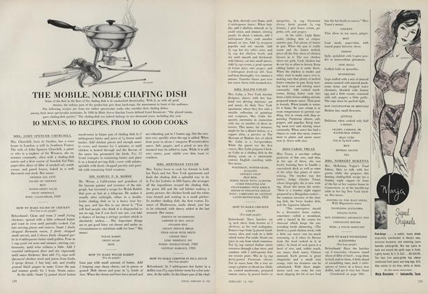 The Mobile, Noble Chafing Dish; 10 Menus, 10 Recipes, From 10 Good Cooks