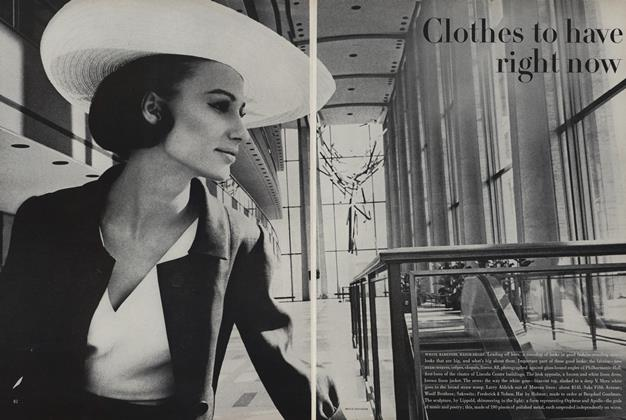 Article Preview: Clothes to Have Right Now, April 1 1963 | Vogue