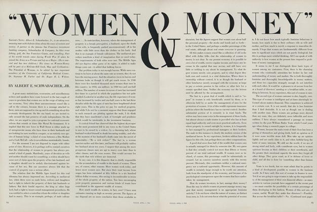 Article Preview: ''Women & Money'', April 1 1963 | Vogue