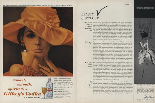 Note on the Doing of Audrey Hepburn's Hair/Hair Spray for Men...