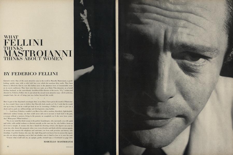 What Fellini Thinks Mastroianni Thinks About Women