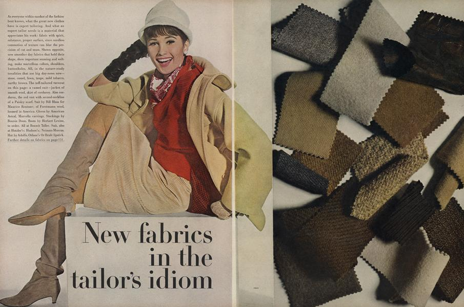 New Fabrics in the Tailor's Idiom