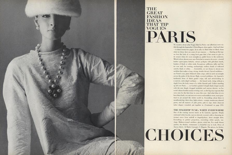 The Great Fashion Ideas that Tip Vogue's Paris Choices
