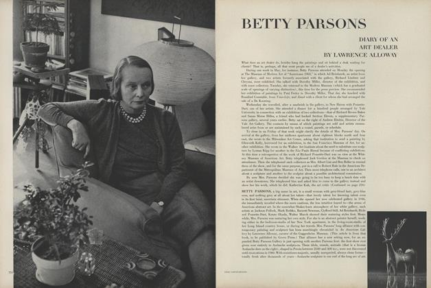 Betty Parsons: Diary of an Art Dealer