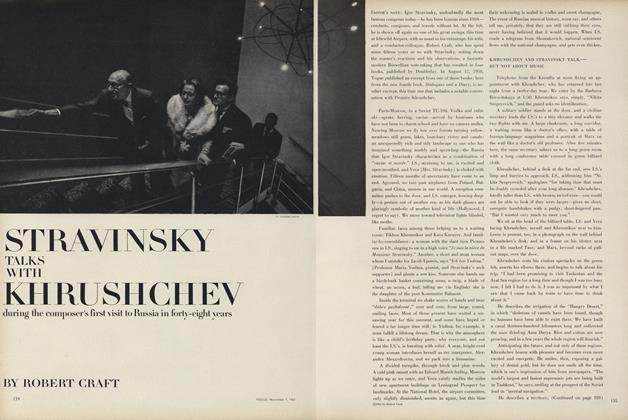 Stravinsky Talks with Kruschev during the Composer's First Visit to Russia in Forty-Eight Years