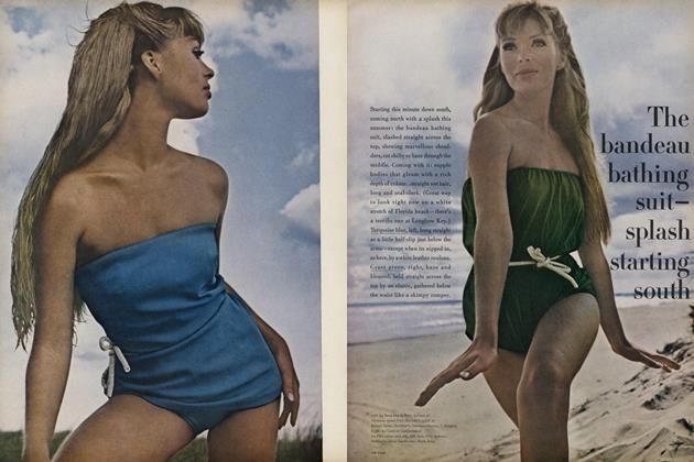 The bandeau bathing suit—splash starting south
