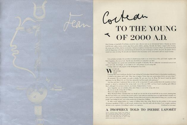 Jean Cocteau: To the Young of 2000 A.D.