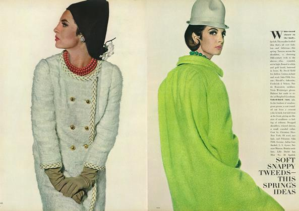 Article Preview: Soft Snappy Tweeds—This Spring's Ideas, January 15 1964 | Vogue