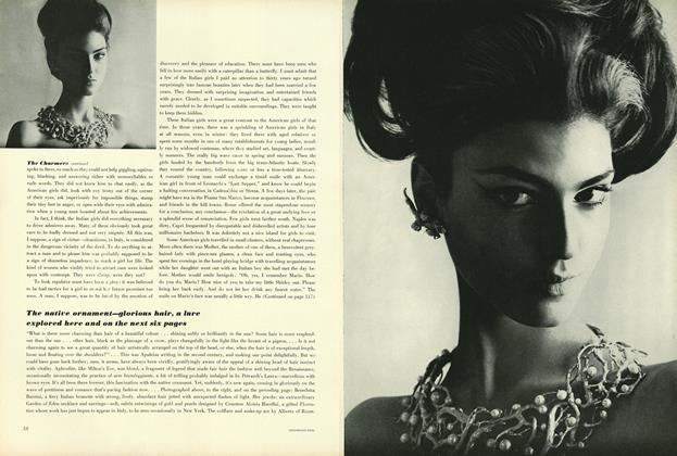 Article Preview: The Native Ornament—Glorious Hair, a Lure Explored Here and on the Next Six Pages, January 15 1964 | Vogue