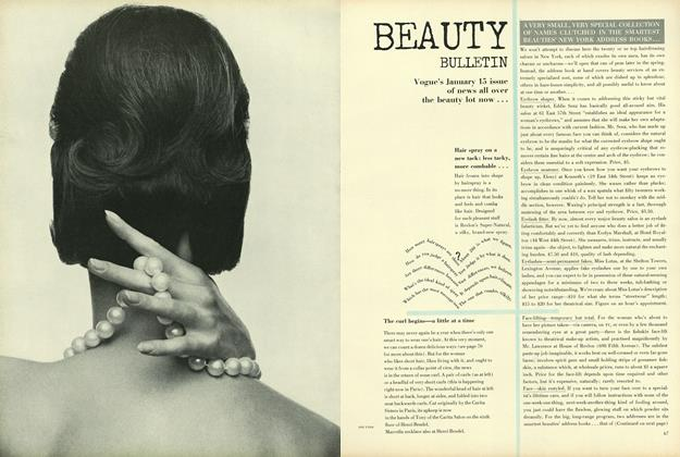 Article Preview: A Very Small, Very Special Collection of Names Clutched in the Smartest Beauties' New York Address Books, January 15 1964 | Vogue