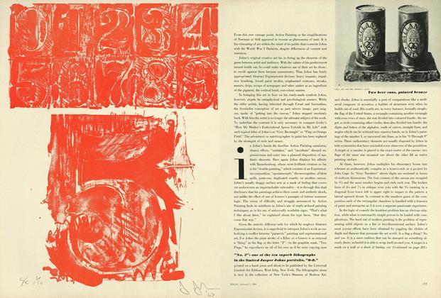 """No. 5"": Jasper John's Lithograph"
