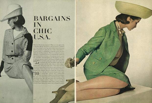 Article Preview: Bargains in Chic U.S.A, February 1 1964 | Vogue