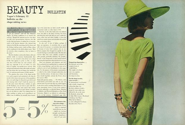 Article Preview: Vogue's February 15 bulletin on the shape-taking news, February 15 1964 | Vogue