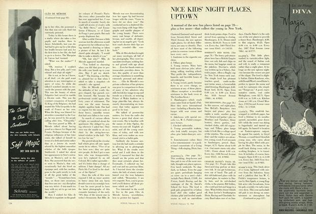Article Preview: Nice Kids' Night Places, Uptown, February 15 1964 | Vogue
