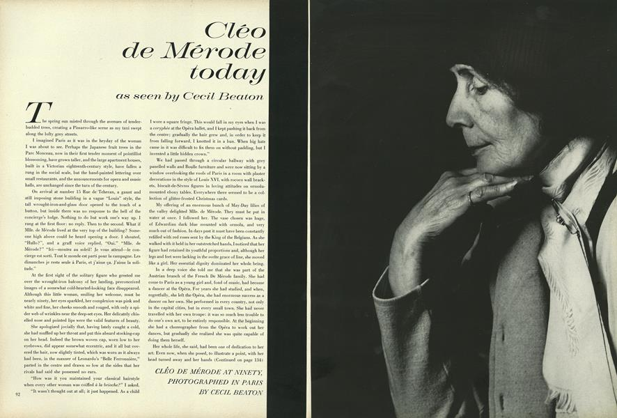 Cléo de Mérode today as seen by Cecil Beaton