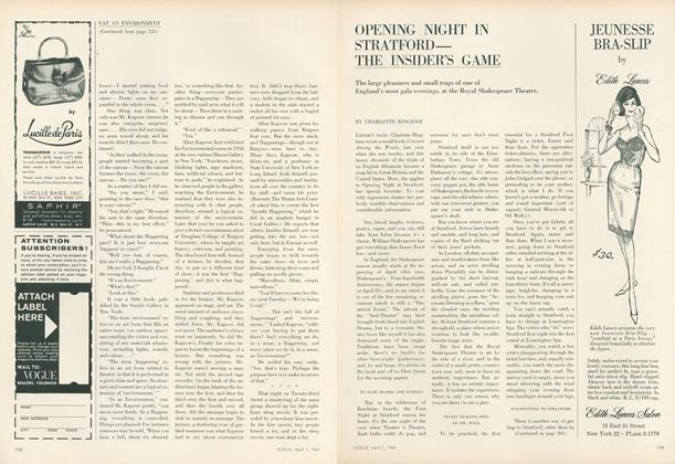 Article Preview: Opening Night in Stratford–the Insider's Game, April 1 1964 | Vogue