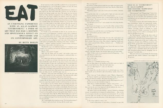 "Article Preview: Eat: An Unsettling Experience with an Allan Kaprow ""Environment,""..., April 1 1964 