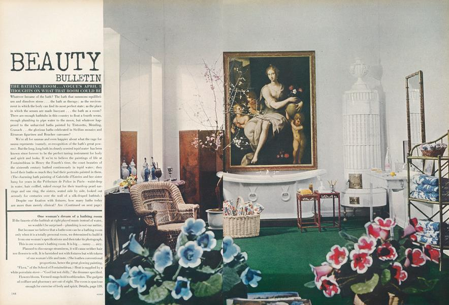 The Bathing Room...Vogue's April 1 Thoughts on What That Room Could Be