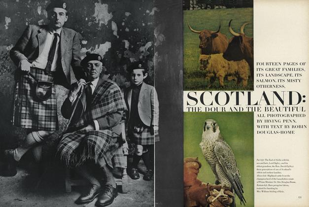 Scotland: The Dour and the Beautiful. Fourteen Pages of It's Great Families, Its Landscape, Its Salmon, Its Misty Otherness.