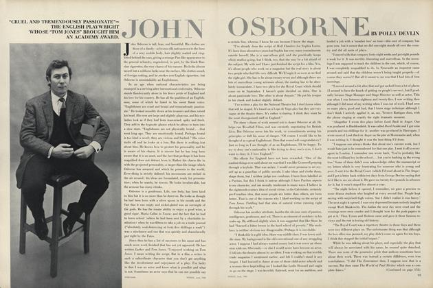 "John Osborne. ""Cruel and Tremendously Passionate- the English Playwright Whose ""Tom Jones"" Brought Him an Academy Award."