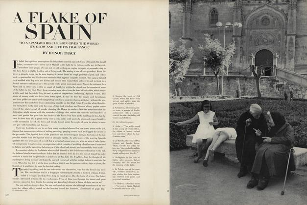 "A Flake of Spain. ""To a Spaniard His Illusion Gives the World It's Glow and Life It's Fragrance."""