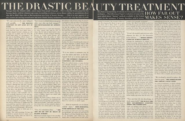 The Drastic Beauty Treatment: How Far Out Makes Sense?