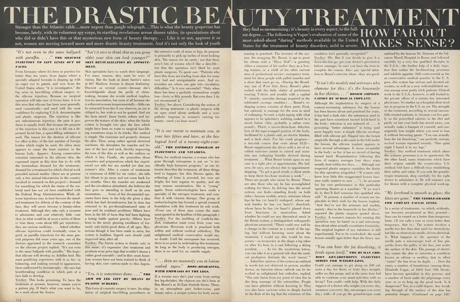 The Drastic Beauty Treatment: How Far Out Makes Sense?