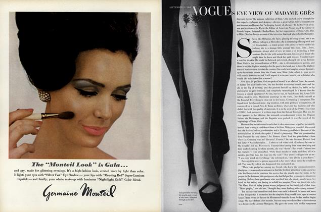 Article Preview: Vogue's Eye View of Madame Gres, September 15 1964 | Vogue