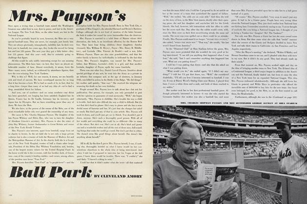 Article Preview: Mrs. Payson's Ball Park, September 15 1964 | Vogue