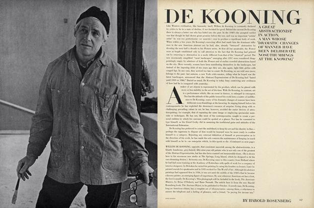Article Preview: De Kooning, September 15 1964 | Vogue
