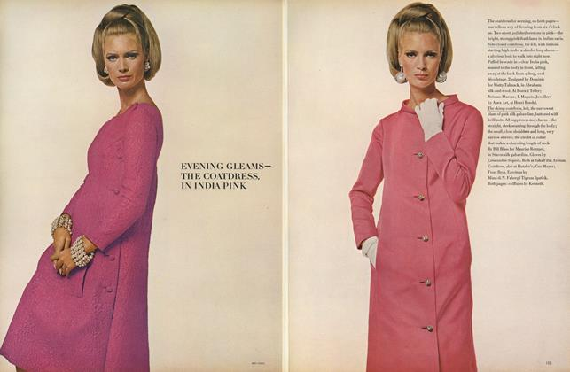 Evening Gleams–the Coatdress in India Pink