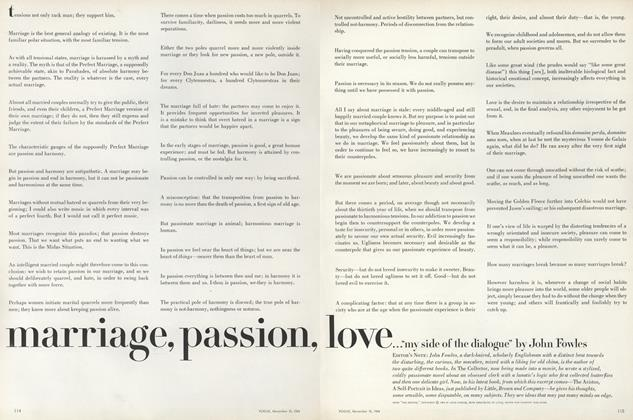 """Marriage, Passion, Love...""""My Side of the Dialogue"""""""