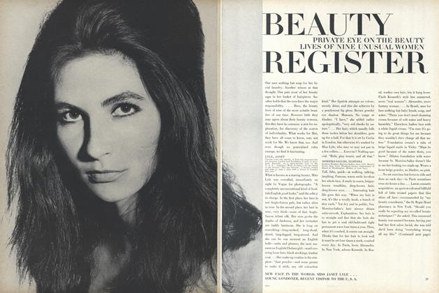 Article Preview: Private Eye on the Beauty Lives of Nine Unusual Women, January 15 1965 | Vogue