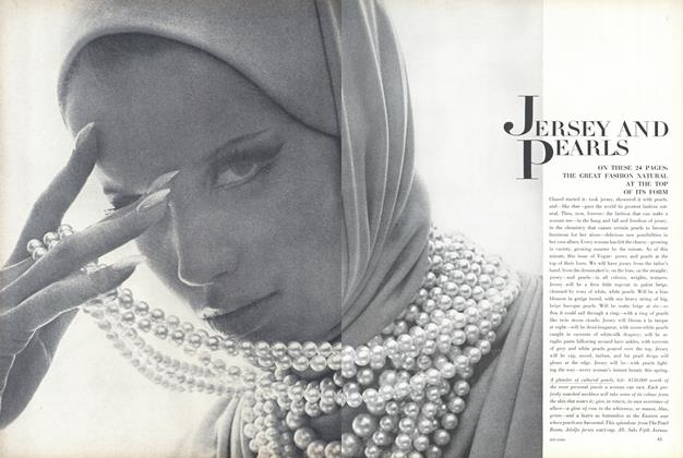 Article Preview: Jersey and Pearls, January 15 1965 | Vogue