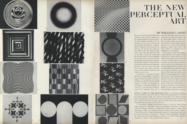 "The New Perceptual Art/Twelve Works in ""The Responive Eye"""